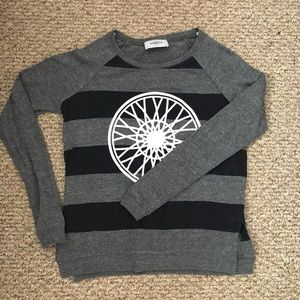 Soulcycle striped wheel pullover sweater